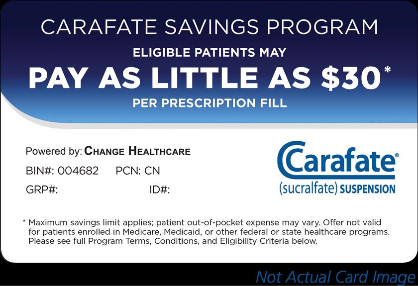 CARAFATE® (sucralfate) SUSPENSION Savings Program